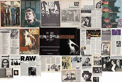 U2 : CUTTINGS COLLECTION -adverts interviews- 1980s