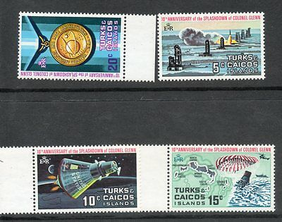 Turks And Caicos  1972 Touchdown Space  Thematic Set Um/mnh