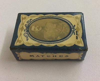 Vintage WW1 Sweetheart/Souvenir matchbox Holder/Cover inc Old Empty Matchbox