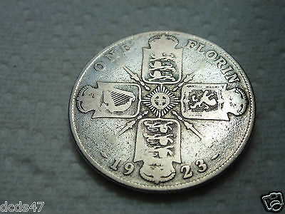 1923 One Florin Coin King George V Silver 2/- Two Shillings Coin Hunt