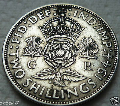 1944 One Florin Coin King George V Silver 2/- Two Shillings Coin Hunt @@