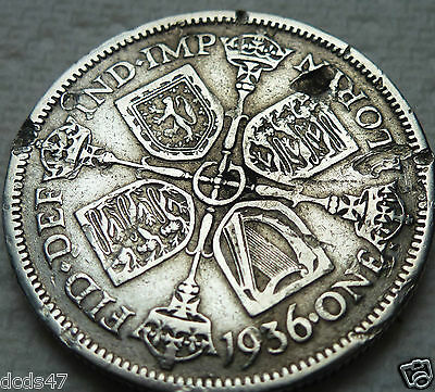 1936 One Florin Coin King George V Silver 2/- Two Shillings Coin Hunt @@