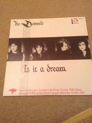 """THE DAMNED Is It A Dream  5 Track  12""""  EX+NM"""