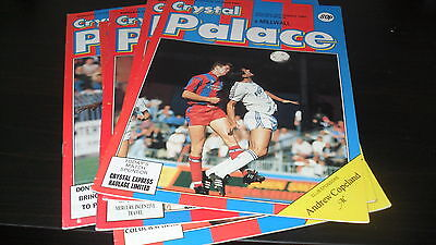 Crystal Palace 4nr Home Games 1987-88 inc Leicester/Millwall/Plymouth