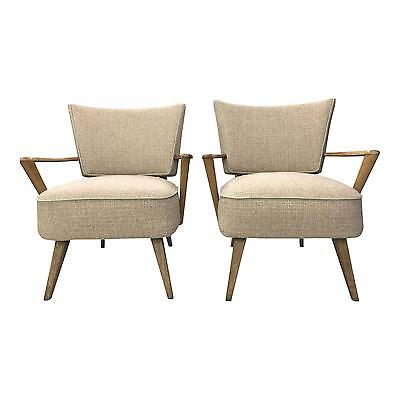 Mid Century Modern LOUNGE CHAIR Pair oversized Heywood Wakefiled arm UPHOLSTERED