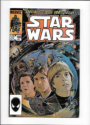 STAR WARS #100  [1985 VG+]  SPECIAL DOUBLE-SIZED 100th ISSUE!  LEIA COVER!