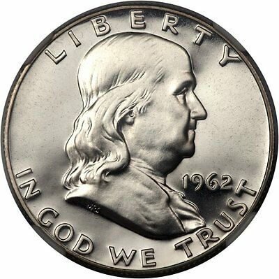1962-P PROOF Franklin Silver Half Dollar - 90% Silver