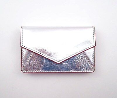ILI LEATHER ENVELOPE BUSINESS CARD or CREDIT CARD CASE HOLDER ~ SILVER ~ NEW