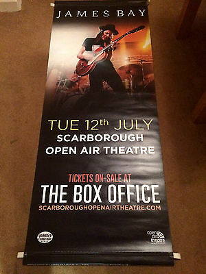 James Bay Double Sided Vinyl Banner Open Air Theatre Scarborough  Excellent