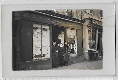 Social History - French Shop Front & Lady Owners - Female Clothing In Window