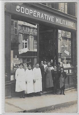 Social History - French Shop Front & Staff - Cooperative Militaire -