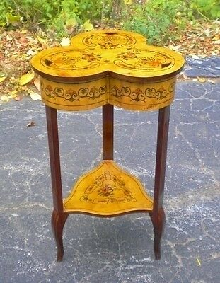 magnificent marquetery Louis XV style SIDE TABLE