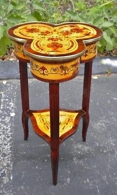 Fabulous Louis XV style French marquetery  SIDE TABLE