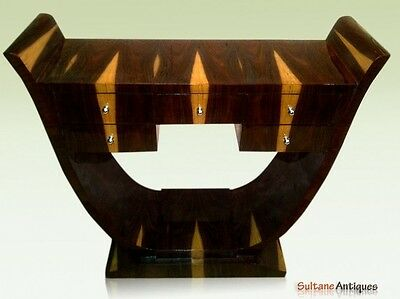 Art Deco Style 5 drawers console in Brazilian rosewood