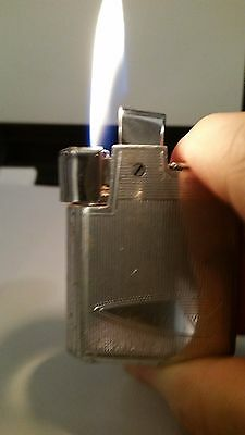 Vintage Ronson Tornado Butane Gas Lighter, Engravible, Risible Wind Guard Works!