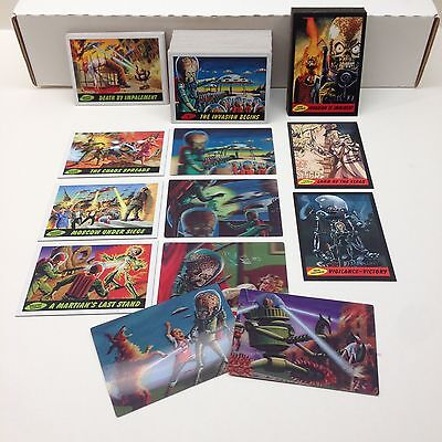MARS ATTACKS! HERITAGE (Topps/2012) Complete Card Set w/ ALL 30 Chase Cards (85)