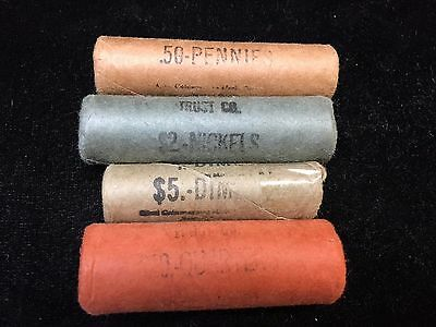 1959-P - Quarters; Dimes; Nickles; Cents  - Bu - Bank Wrapped Rolls