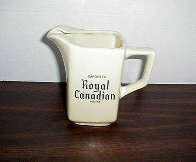 Imported Royal Canadian Whisky pitcher