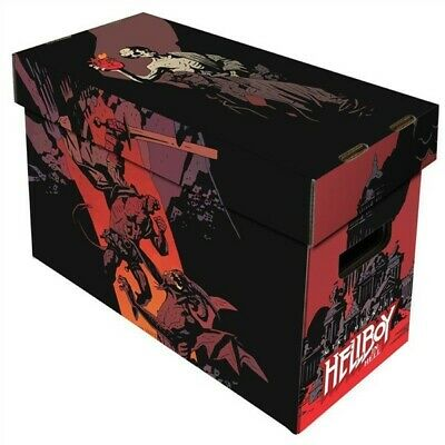 BCW Short Cardboard Comic Book Storage Box with Hellboy in Hell Art Design