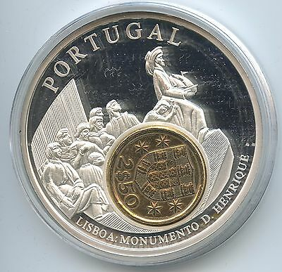 GY121 - Große Medaille Portugal mit 2½ Escudos 1977 European Currencies Lisabon