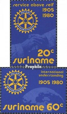 Suriname 894-895 (complete issue) unmounted mint / never hinged 1980 Rotary