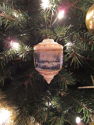 Thomas Kinkade Bradford Edition 2000 Heirloom Glass Ornament Victorian Christmas