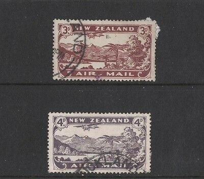 1931 New Zealand Air SG 548/9 used