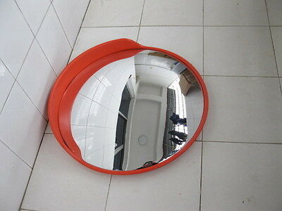 1X Red 60cm Outdoor Convex Security Safety Mirror w/Cover
