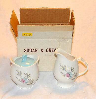 Steubenville Fairlane  Boxed Set of Creamer and Sugar NEVER USED NOS