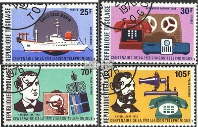Togo 1150A-1153A (complete issue) used 1976 100 years Phone