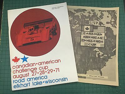 1971 Peter Revson Wins Can.Am Road America Elkhart Lake Race Program