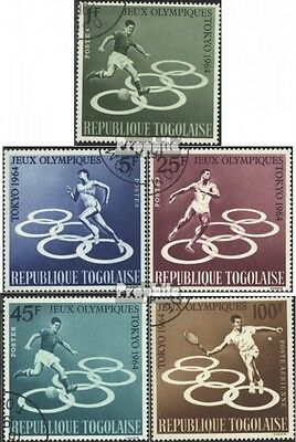 Togo 435A-439A (complete issue) used 1964 olympic. Summer - Tok