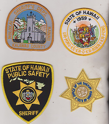 State of Hawaii Sheriff patches, & Kalawao County Sheriff patch