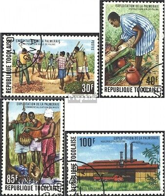 Togo 1106A-1109A (complete issue) used 1975 the Use the oil pal