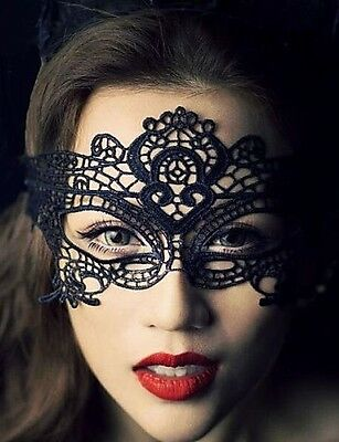 New Ladies Black Lace Mask