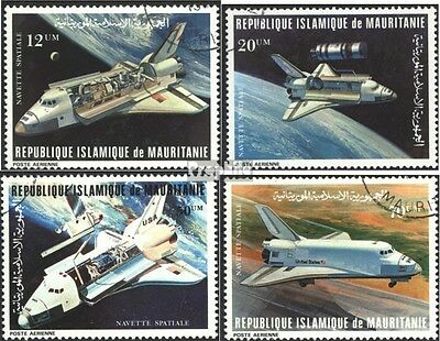 Mauritania 715-718 (complete issue) used 1981 Space Shuttle Spa