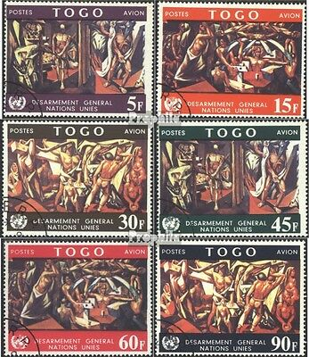Togo 588A-593A (complete issue) used 1967 World-Disarmament thr