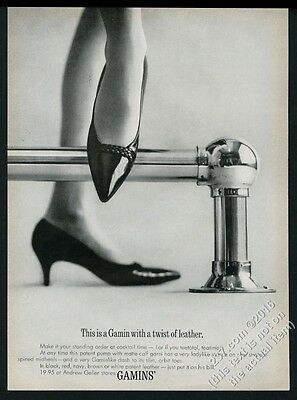 1962 Gamins Gamin women's shoes patent leather pumps photo vintage print ad