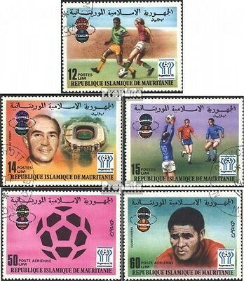 Mauritania 584-588 (complete issue) used 1977 Football-WM ´78,