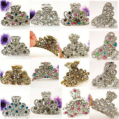 US SELLER-wholesale lot of mix hair clips with crystal metal hair clip jaw 1