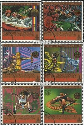 Comoros 513A-518A (complete issue) used 1979 Olympics Summer