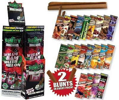 2x Juicy Hemp Wrap Blunt flavoured Flavour Cigarette smoking rolling paper herbs