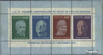 Gabon block16a (complete issue) unmounted mint / never hinged 1970 1. Death of C