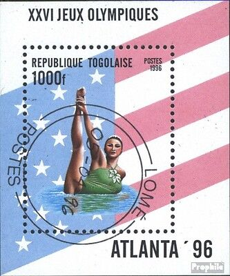 Togo block391 (complete issue) used 1996 olympic. Summer´96, At