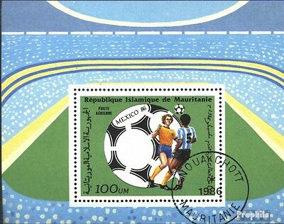 Mauritania block64 (complete issue) used 1986 Football-WM ´86,