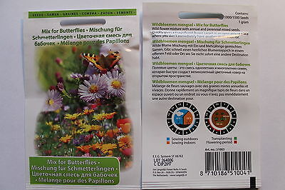 1000/15000 /1g Seeds Wild flower mix for Butterfly#582