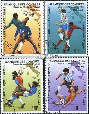 Comoros 935-938 (complete issue) used 1990 World Cup, Italy