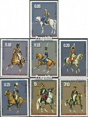 Equatorial-Guinea 775-781 (complete.issue) used 1976 cavalry un