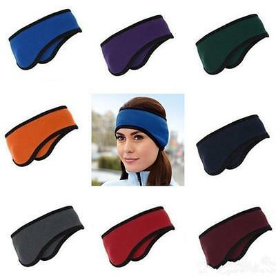 Ear Warmers Winter Head Band Polar Fleece Ski Ear Muff Unisex Stretch Spandex LD