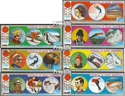 Equatorial-Guinea 27-33 (complete issue) used 1972 Medalists ´6